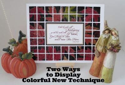 2 Ways 2 Display 4 Colorful Technique